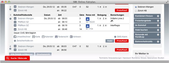 sbb timetable screenshot
